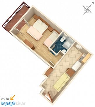 Apartment A-2973-d - Apartments and Rooms Lokva Rogoznica (Omiš) - 2973
