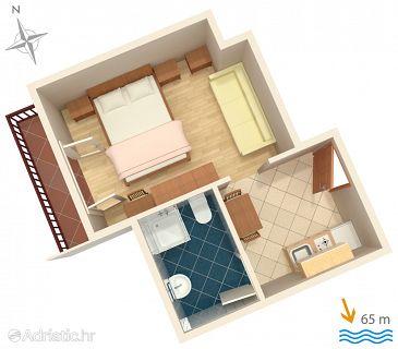 Studio flat AS-2973-b - Apartments and Rooms Lokva Rogoznica (Omiš) - 2973