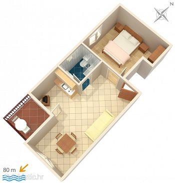 Apartment A-2974-b - Apartments Lokva Rogoznica (Omiš) - 2974