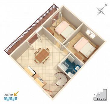 Apartament A-2987-c - Apartamenty Vinišće (Trogir) - 2987