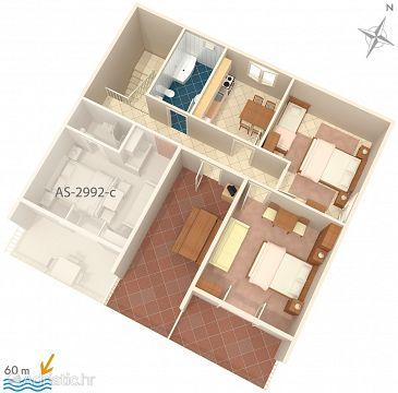 Apartment A-2992-b - Apartments Duće (Omiš) - 2992