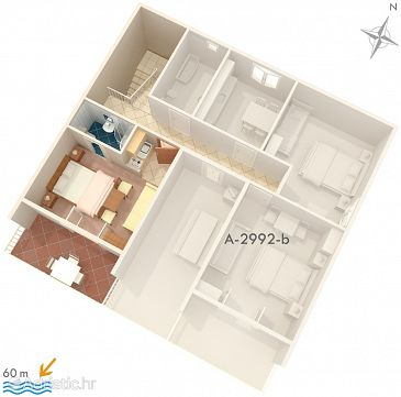 Studio flat AS-2992-c - Apartments Duće (Omiš) - 2992