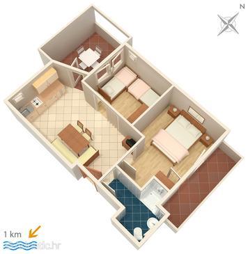 Apartment A-3012-f - Apartments and Rooms Premantura (Medulin) - 3012