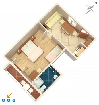 Apartament A-302-a - Apartamenty Drvenik Donja vala (Makarska) - 302
