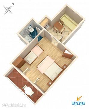 Apartment A-302-b - Apartments Drvenik Donja vala (Makarska) - 302