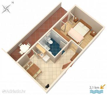 Valbandon, Plan u smještaju tipa apartment, WIFI.