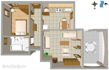 Apartment A-3025-b - Apartments Duga Luka (Prtlog) (Labin) - 3025