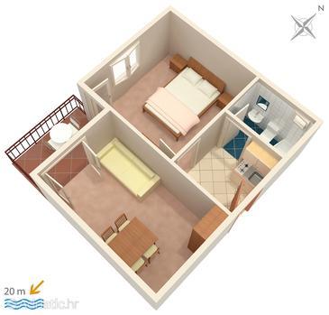 Apartment A-303-b - Apartments Drvenik Donja vala (Makarska) - 303