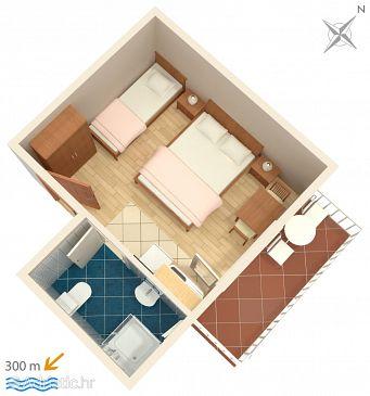 Studio flat AS-3059-a - Apartments Baška Voda (Makarska) - 3059