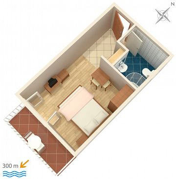 Studio flat AS-3059-b - Apartments Baška Voda (Makarska) - 3059