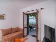 Postira, Living room u smještaju tipa apartment, dopusteni kucni ljubimci i WIFI.