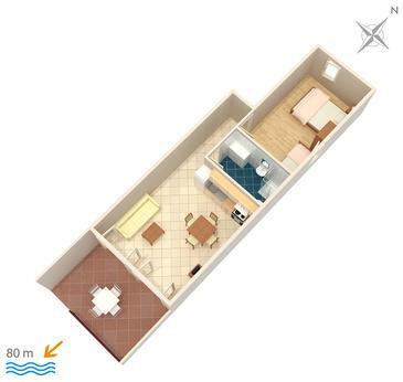 Apartament A-3066-d - Apartamenty Milna (Brač) - 3066