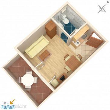 Studio flat AS-3073-a - Apartments and Rooms Vinišće (Trogir) - 3073