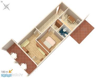 Apartment A-3075-f - Apartments Potočnica (Pag) - 3075