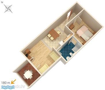 Apartment A-3075-j - Apartments Potočnica (Pag) - 3075
