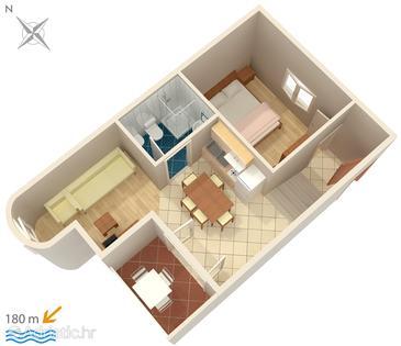 Apartment A-3075-l - Apartments Potočnica (Pag) - 3075