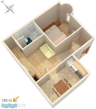 Potočnica, Plan u smještaju tipa apartment, WIFI.
