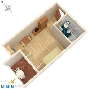 Studio flat AS-3075-f - Apartments Potočnica (Pag) - 3075