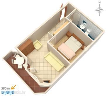 Apartment A-3083-b - Apartments Stara Novalja (Pag) - 3083