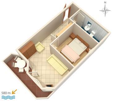 Apartament A-3083-b - Apartamenty Stara Novalja (Pag) - 3083
