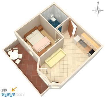 Apartment A-3083-c - Apartments Stara Novalja (Pag) - 3083