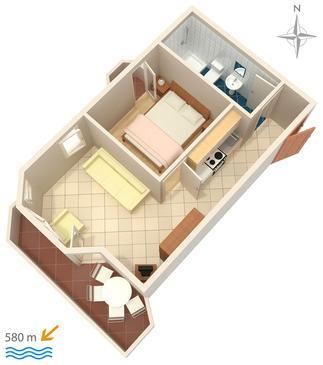 Apartment A-3083-e - Apartments Stara Novalja (Pag) - 3083