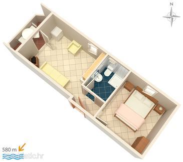 Apartment A-3083-l - Apartments Stara Novalja (Pag) - 3083