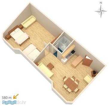 Apartment A-3083-m - Apartments Stara Novalja (Pag) - 3083