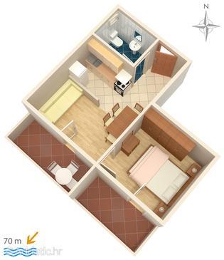 Apartment A-3084-b - Apartments Mandre (Pag) - 3084