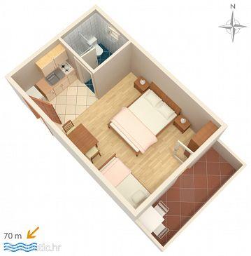 Studio flat AS-3084-b - Apartments Mandre (Pag) - 3084