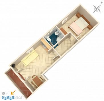 Apartment A-3092-b - Apartments Brodarica (Šibenik) - 3092