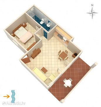 Apartment A-3094-b - Apartments Rogoznica (Rogoznica) - 3094