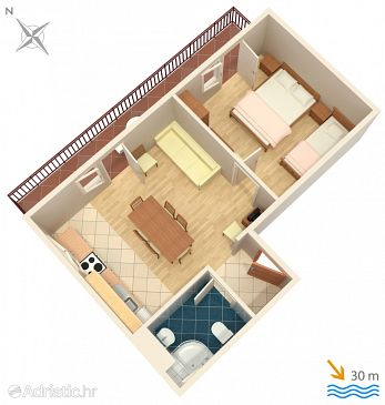 Apartment A-311-c - Apartments Igrane (Makarska) - 311