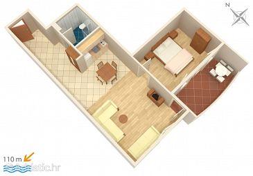 Apartment A-3162-d - Apartments Trpanj (Pelješac) - 3162