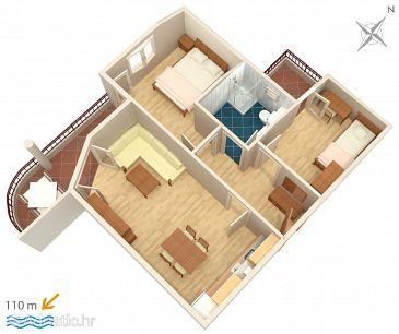 Apartment A-3193-d - Apartments Tučepi (Makarska) - 3193
