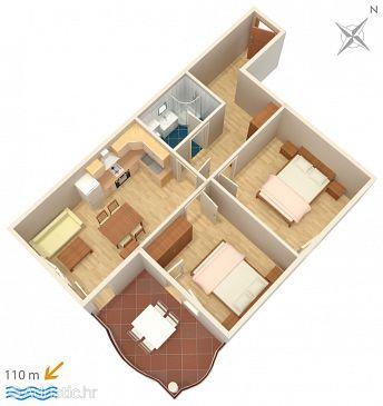 Apartment A-3193-f - Apartments Tučepi (Makarska) - 3193