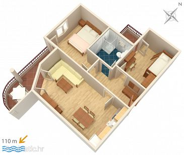 Apartment A-3193-l - Apartments Tučepi (Makarska) - 3193