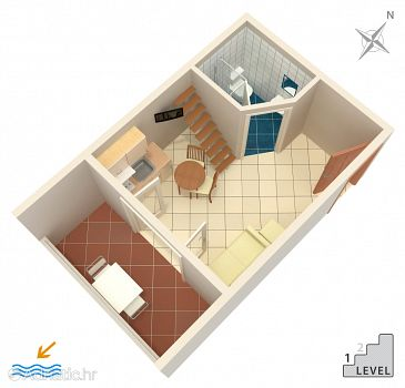 Studio AS-3205-a - Apartamenty Banjol (Rab) - 3205