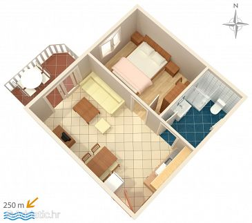 Apartment A-3210-f - Apartments Palit (Rab) - 3210