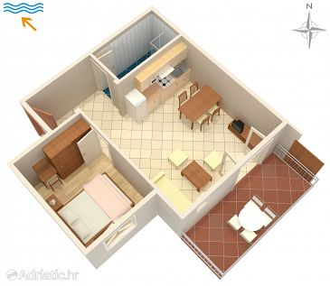 Apartment A-3213-h - Apartments Kampor (Rab) - 3213