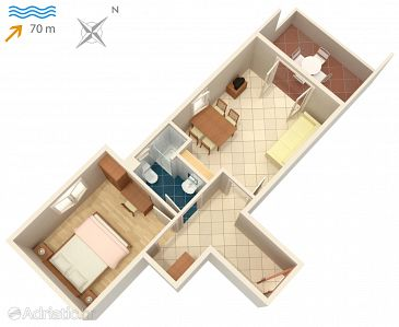 Apartament A-3248-a - Apartamente și camere Vinjerac (Zadar) - 3248