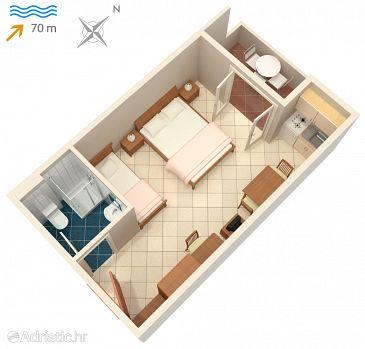 Studio flat AS-3248-k - Apartments and Rooms Vinjerac (Zadar) - 3248