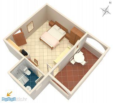 Studio flat AS-3268-c - Apartments Petrčane (Zadar) - 3268