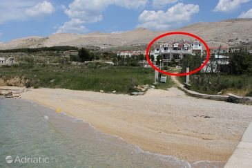 Property Pag (Pag) - Accommodation 3298 - Rooms near sea with pebble beach.