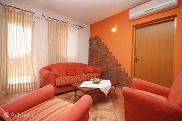 Novalja, Living room u smještaju tipa apartment, dostupna klima i WIFI.