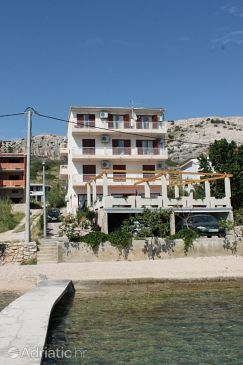 Property Metajna (Pag) - Accommodation 3305 - Rooms near sea with pebble beach.