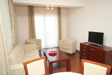 Makarska, Living room u smještaju tipa apartment, WIFI.