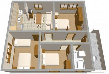 plan appartement de 80m2