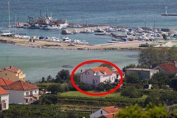 Tkon, Pašman, Obiekt 341 - Apartamenty blizu mora z piaszczystą plażą.