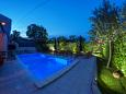 Courtyard Punta križa (Cres) - Accommodation 3488 - Vacation Rentals with rocky beach.